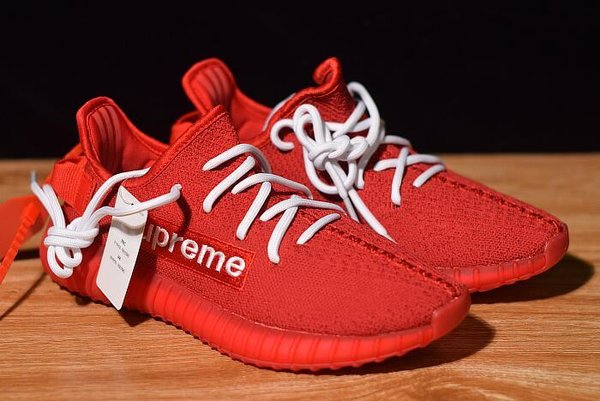 Supreme x adidas Yeezy Boost 350 V2 Red/White