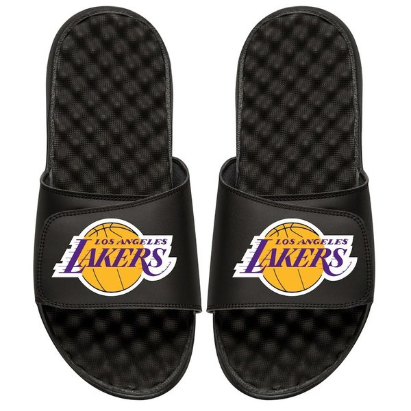 Men's Los Angeles Lakers Black Personalized Primary Slide Sandals